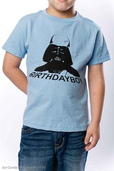 Shirt for Star Wars birthday party. (maybe a different vadar pic)