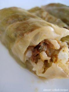 Almost Turkish Recipes: Stuffed Cabbage Leaves with Ground Meat (Etli Lahana Sarması)