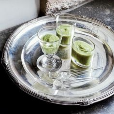 Zucchini Soup with Creme Fraiche