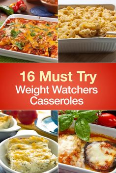 16 Must Try Weight Watchers Casserole Recipes including Chicken Taco Casserole Cheesy Squash Chicken and Cheese Baked Cream Cheese Spaghetti Casserole Green Bean Bubble Up Chicken Pot Pie Cabbage Beef Bubbling Pizza Stuffed Mushroom Farmers Break Weight Watchers Casserole, Weight Watchers Diet, Weight Watcher Dinners, Weight Watcher Recipes, Wieght Watchers, Weight Watchers Lunches, Ww Recipes, Cooking Recipes, Healthy Recipes