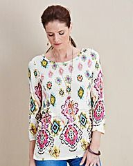 JOANNA HOPE Print Jersey Top  #Oxendales #SS16 #Fashion