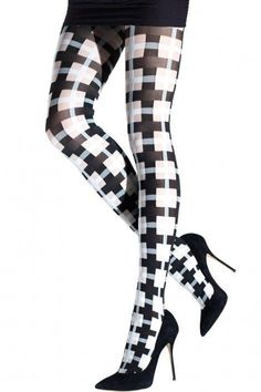 Fabulous TWO TONED PLAID TIGHTS to really brighten up or transform any dull outfit. Remember to dress up your legs as well as the other parts of you. Legs like to look their best too! Plaid Tights, Funky Tights, Cool Tights, Patterned Tights, Fishnet Tights, Nylons, Opaque Tights, Opaque Stockings, Stockings Heels