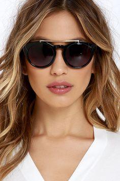 Surf Report Black Sunglasses at Lulus.com!