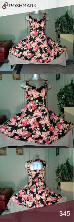 Torrid Flower Printed Beautiful Formal Dress Dress Dresses Midi