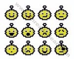 Smiley Charms Bead Pattern By ThreadABead