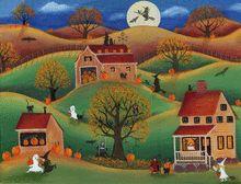 HALLOWEEN PUMPKIN VILLAGE by Cheryl Bartley