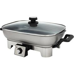 Oster Designed for Life Electric Skillet, Brushed Stainless Steel...    ~XOX  #MomAndSonCookingTeam