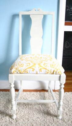 How to upholster a chair seat.