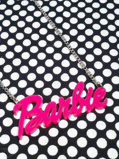 Pink barbie necklace