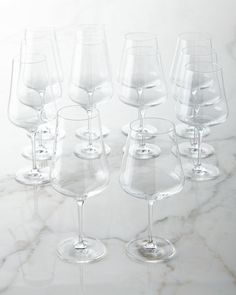 H85ED Schott Zwiesel Tristan Crystal Wine Glasses, 12-Piece Set