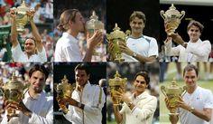 8 titles RF #Legend Wimbledon 2017, Roger Federer, Champion, People, People Illustration, Folk