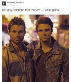 Tweet 14/2/15 (The only originals who look related.)