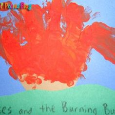 Sunday School Crafts: Moses and the Burning Bush