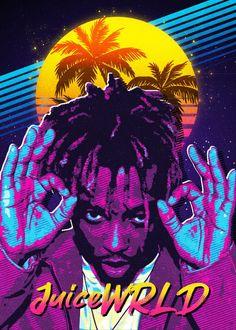 Rapper Wallpaper Iphone, Hype Wallpaper, Cartoon Wallpaper, Pop Art Posters, Poster Prints, Rapper Art, Hip Hop Art, Print Artist, Cool Artwork