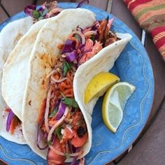 Blackened Salmon Tacos-- clean with some tweeking . . .
