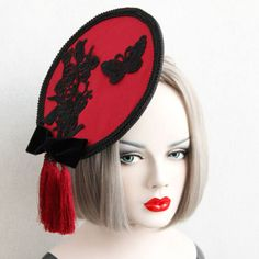 Tassel-Chinese-Butterfly-Lace-Fascinator-Hat-Hairpin-Classic-Hair-Accessory-Prop