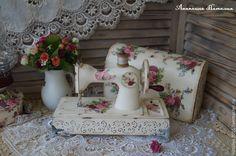 """Купить """"Французский шик""""-детская швейная машинка - белый, швейная машинка, детская комната"""