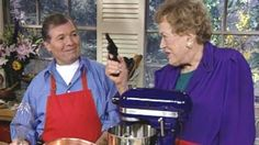 "Julia Child and Jacques Pepin LOVED to work together. Watch some of the best moments from ""Julia and Jacques Cooking at Home"" at pbs.org #CookForJulia"