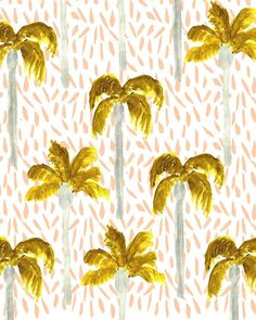 Palm Trees III. #illustration #pattern