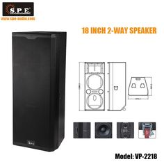 Elegant Line Array Speaker Cabinet