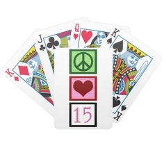 Cute Fifteen Bicycle Playing Cards
