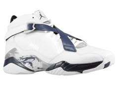 best website 9c239 bd275 Air Jordans 8(VIII) Basketball Shoe White Midnight Navy Stealth Nike Shoes