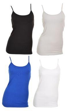 Kirkland Womens Camisole Small Tank Top Shirt Built in Shelf Bra Tagless NWOT #Kirkland #TankCami #Casual
