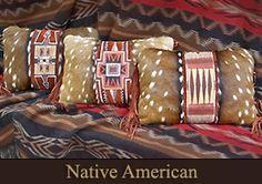 Native American Pillows by SHERRI SHELTON HEATH  www.sherriheathleather.com