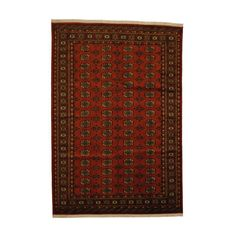 With+a+distinctive+style,+a+gorgeous+area+rug+from+Pakistan+will+add+some+splendor+to+any+decor.+This+Bokhara+area+rug+is+hand-knotted+with+a+geometric+pattern+in+shades+of+rust,+ivory,+gold,+black,+grey+and+salmon.
