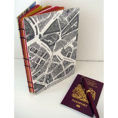 London map hand-made journal / notebook #london #uk #handmade #journal #notebook