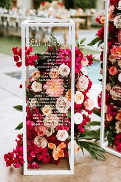 stunning floral acrylic wedding seating chart ideas