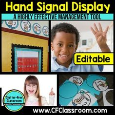 These EDITABLE classroom hand signal printable posters are a highly effective classroom management tool. You will find you have fewer student distractions, less disruptions while teacher and more time on task.