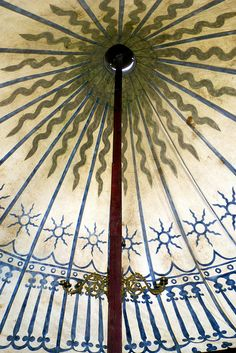 Fifteenth century camp pavilion ceiling by One lucky guy, via Flickr