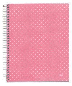 This Pink Dots DIY Spiral Notebook by Miquelrius is perfect! #zulilyfinds