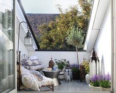 Sommer- Balkon | Balcony Garden | Pinterest 25 Balkongestaltung Ideen Gemutliche Sitzecke Arrangieren