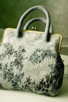 Carpetbag ~ Green and Gray