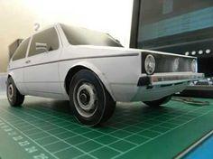 Volkswagen Golf Mk1 Papercraft free download