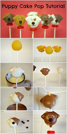 These dog cake pops are almost too cute to eat! Our contributor Deanna walks us through the step-by-step process of creating these adorable desserts.