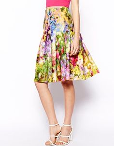 Gorge floral midi skirt from #ASOS #Wishlist