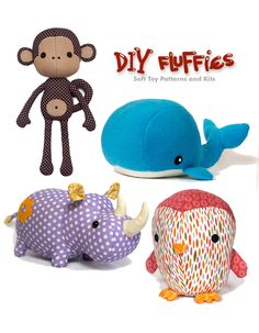 DIY Fluffies pattern and sewing kit