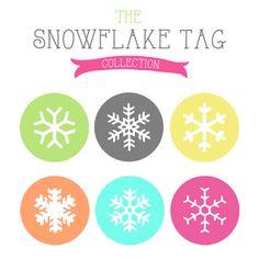 Free Printable Snowflake gift tags - The Cottage Market