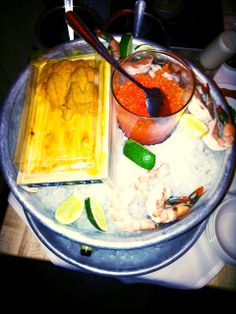 Ma Peche, www.TeresaTastes.com Uni, caviar and shrimp