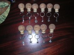 Patron cork recycled bottle  keychain. Will float! Also try Champagne corks