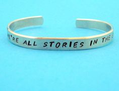 Doctor Who Inspired Bracelet - We're All Stories in the End