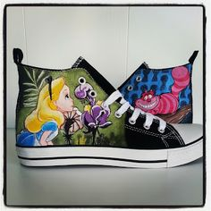 Painted Canvas Shoes, Painted Sneakers, Hand Painted Shoes, Custom Vans Shoes, Custom Converse, Converse Shoes, Muses Shoes, Creative Shoes, Disney Shoes
