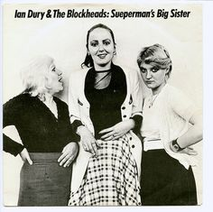 "Ian Dury: Sueperman's Big Sister b/w You'll See Glimpses. 7"" vinyl single record sleeve. Stiff Records, London, 1980. BUY 100"
