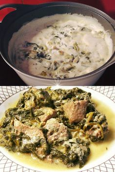 Greek Recipes, Palak Paneer, Mashed Potatoes, Curry, Meals, Chicken, Ethnic Recipes, Food, Meal