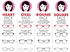 glasses frames for face shape - Buscar con Google