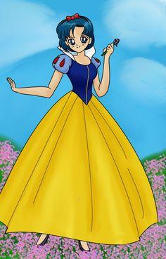 Amy Anderson (Sailor Mercury) as Snow White 2 Sailor Moon Girls, Sailor Pluto, Snow White Outfits, Snow White 2, Pillos, Pokemon Alola, Princess Serenity, The Beauty Department, Sailor Mercury