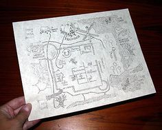 Print and fold Marauders Map.